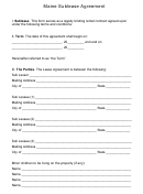Maine Sublease Agreement Template