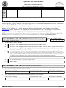 Uscis Form N-400 - Application For Naturalisation