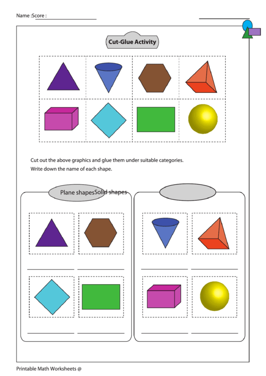 Cut Glue Activity Worksheet With Answer Key Printable Pdf Download