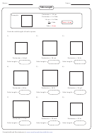 Side Length Worksheet Template With Answer