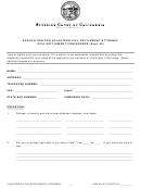 Application For Volunteer Civil Settlement Attorney