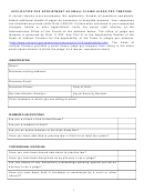 Application For Appointment As Small Claims Judge Pro Tempore