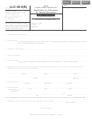 Form Llc-45.5(s) - Application For Admission To Transact Business