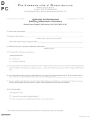 Application For Reinstatement Following Administrative Dissolution - The Commonwealth Of Massachusetts