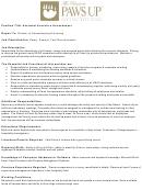 Job Description - Assistant Executive Housekeeper