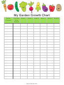 My Garden Growth Chart
