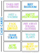 Household Chore Card Templates