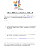 Grant Proposal Guidelines & Template