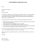 School Building Confirmation Letter Template