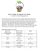 Easter Shell Genetics Worksheet