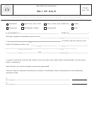 Tc-843 - Bill Of Sale Template - Utah State Tax Commission, Division Of Motor Vehicles