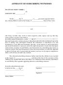Affidavit Of Subscribing Witnesses