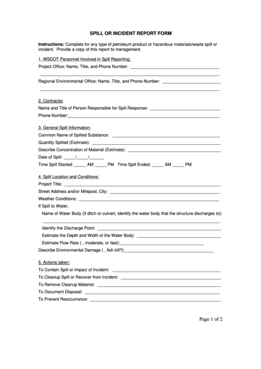 spill or incident report form  page 2 of 2  in pdf
