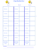 I Kept My Bed Dry! Responsibility Chart