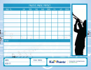 Music Practice Chart Template - Blue