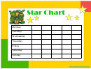 Star Reward Chart - Teenage Mutant Ninja Turtles