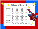 Star Reward Chart - Spiderman