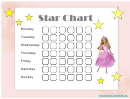 Star Reward Chart - Barbie Doll
