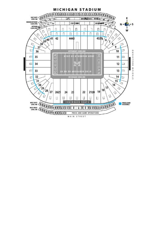 Michigan Stadium Seating Chart Printable pdf