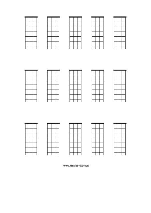 Mandolin Blank Chord Chart printable