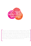 Wedding Planner Timeline Checklist