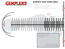 Gemplers Women's Shoe Sizing Guide