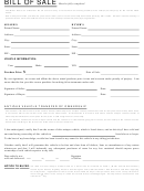 Vehicle Bill Of Sale Template (vehicles 35 Years Old Or Older)
