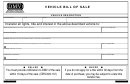Vehicle Bill Of Sale Template