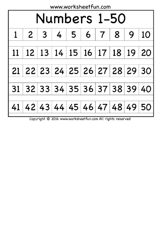 This is an image of Printable Numbers 1 50 pertaining to number 1 18