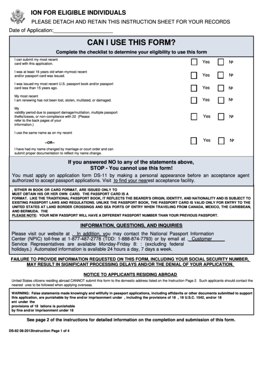 Top 8 Form Ds 82 Templates Free To Download In Pdf Format