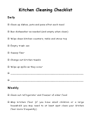 Kitchen Cleaning Checklist Template