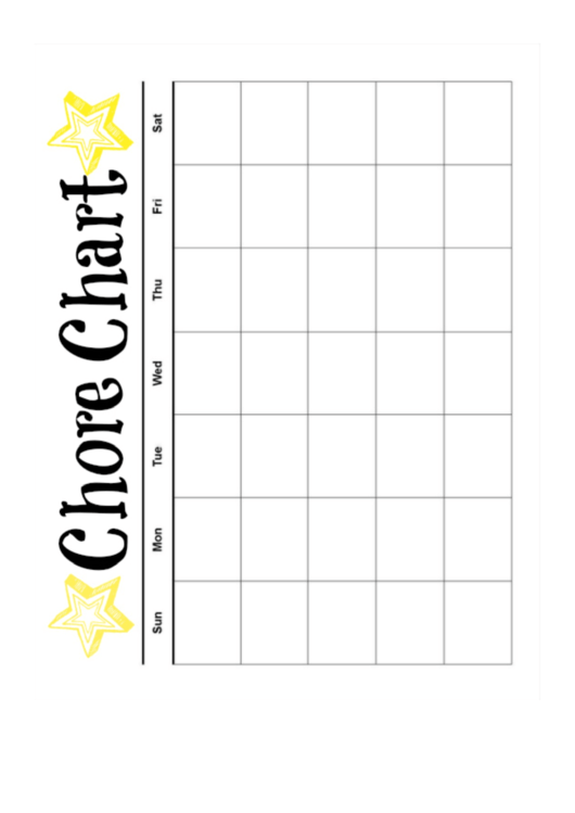 Kids' Chore Chart - Blank