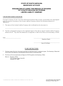Resignation Of Agent For Service Of Process Of A South Carolina Or Foreign Limited Liability Company - South Carolina Secretary Of State
