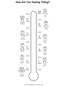 Feelings Thermometer Chart