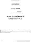 After Action Report & Improvement Plan Template
