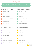 Age-appropriate Chore Chart For Toddlers