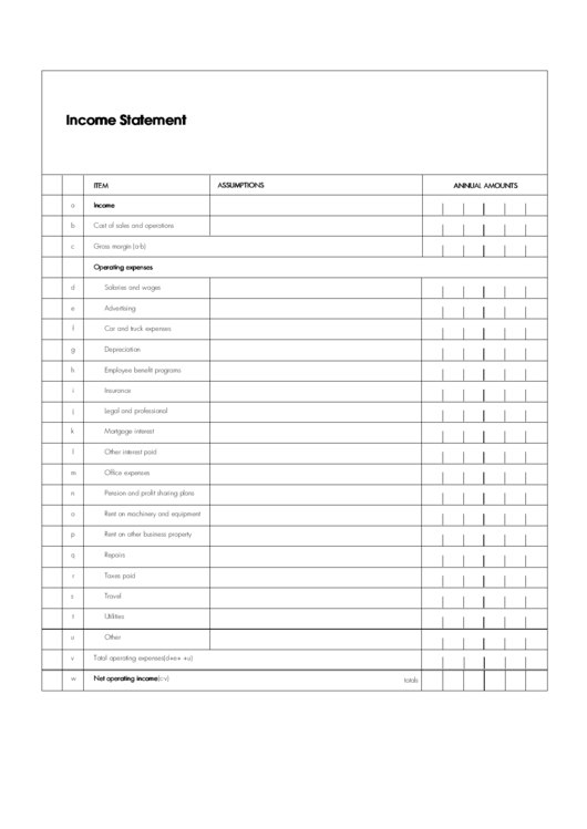 19 Income Statement Templates free to download in PDF, Word and Excel