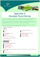 Example Travel Survey