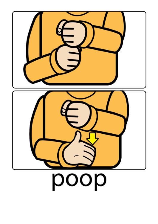 Baby Sign Language Poop Sign Printable pdf