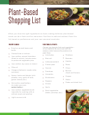 Plant-based Shopping List Template