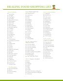 Healing Food Shopping List Template