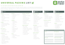 Universal Packing List