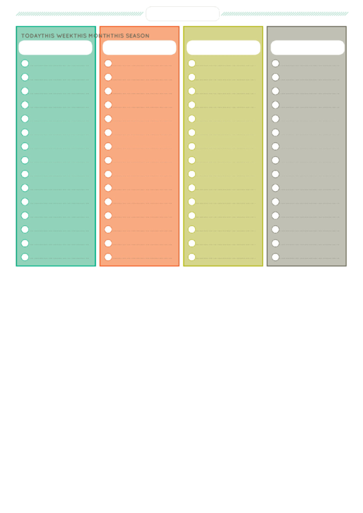 Fillable To Do List (Fillable) Printable pdf