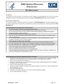 Cdc Unified Process Checklist - Risk Management