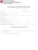 Volunteering Industry-related Hours Form
