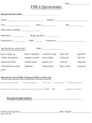 Fmla Questionnaire Form