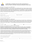 Form Cfn 552-0755 - Certification Of Health Care Provider For Employee's Serious Health Condition (family And Medical Leave Act) - Iowa Department Of Administrative Services