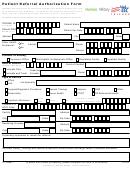 Tricare Patient Referral Authorization Form
