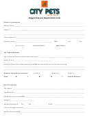Doggie Daycare Registration Form