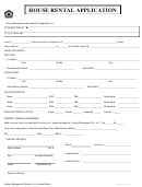 House Rental Application Form